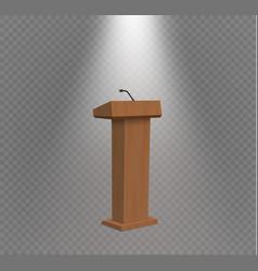 Podium tribune rostrum stand with vector