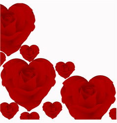roses in the form of heart vector image