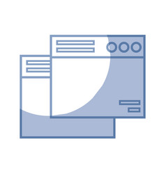 Silhouette technology windows element and website vector
