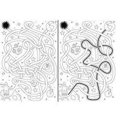 Space maze vector image