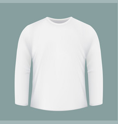 Template white shirt with long sleeves design for vector