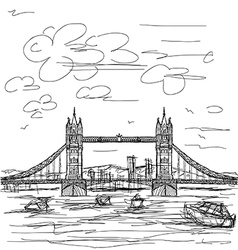 tower bridge vector image vector image