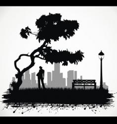 urban scene vector image vector image