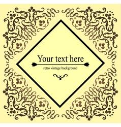 Vintage retro pattern template invitation vector