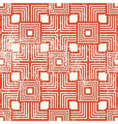 Vintage style geometric seamless background retro vector image vector image