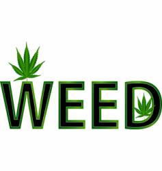 Weed leaf illustration vector