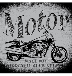 Motorcycle racing typography graphics old school b vector
