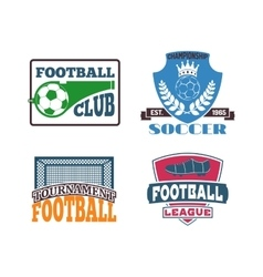 Football sign badge vector