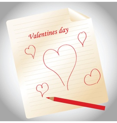 Valentines notepad vector