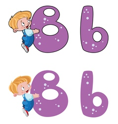 Letter b baby vector
