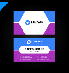 Modern and creative business card background vector