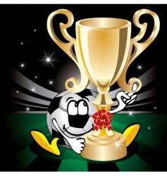 cartoon soccer icon vector image
