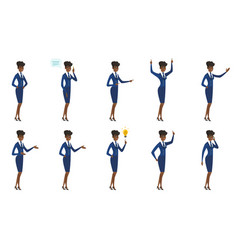 Set of stewardess characters vector