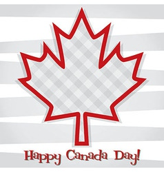 Canada day card vector