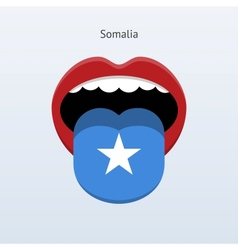 Somalia language abstract human tongue vector