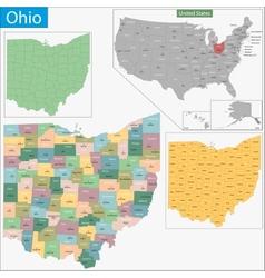 Ohio map vector