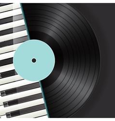 vinyl piano background vector image