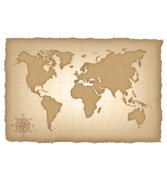an old map of the world vector image