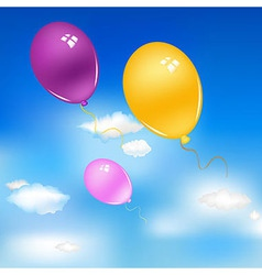 Balloons In Sky vector image