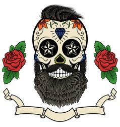 Beard skull vector