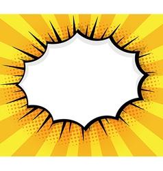 Blank speech bubble pop art comic book vector