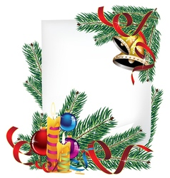 Bright christmas poster vector