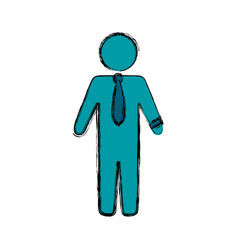 businessman draw silhouette vector image vector image