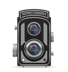 Camera photo old retro vintage icon stock vector