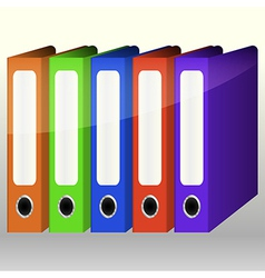 Colorful binders vector