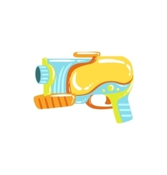 Colorful Fantastic Water Pistol vector image vector image