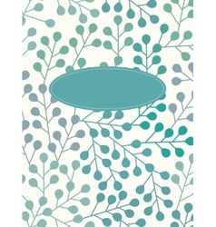 Cute branch silhouettes background vector image vector image