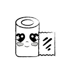 Figure kawaii cute tender gauze medical tool vector