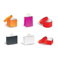 Gift shopping boxes vector image