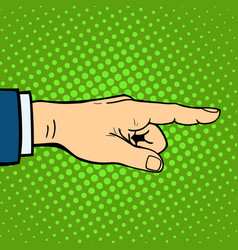 Hand showing deaf-mute gesture human arm hold vector