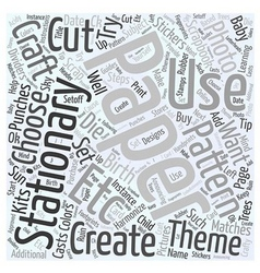 How to choose craft stationary paper word cloud vector