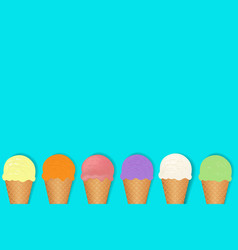 Ice cream border vector
