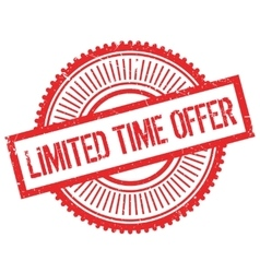 Limited time offer stamp vector