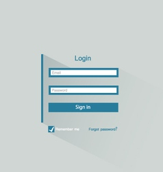 login form vector image vector image