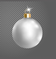 matted white silver christmas ball tree decoration vector image vector image