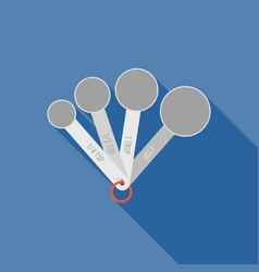 Measuring spoon flat design icon vector