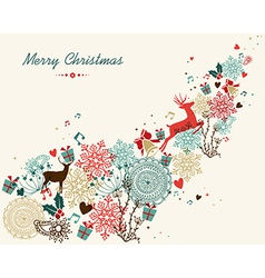 Merry Christmas vintage colors transparency vector image vector image