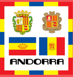 Official government ensigns of andorra vector
