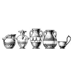 Pottery of ancient greece vector