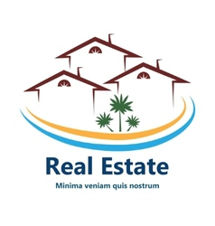 Real Estate agency logo vector image