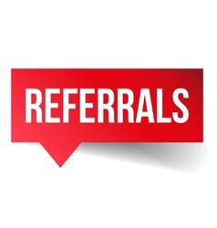 Referrals speech bubble vector
