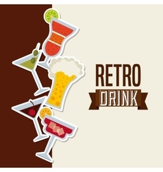 retro drinks vector image vector image