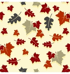 Seamless autumn background with oak and maple vector image vector image