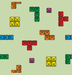 Seamless pattern with tetris vector