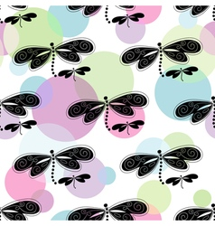 Seamless white spring pattern vector image