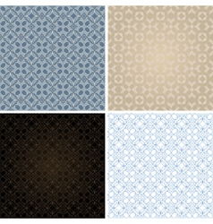 set of seamless vintage patterns vector image vector image